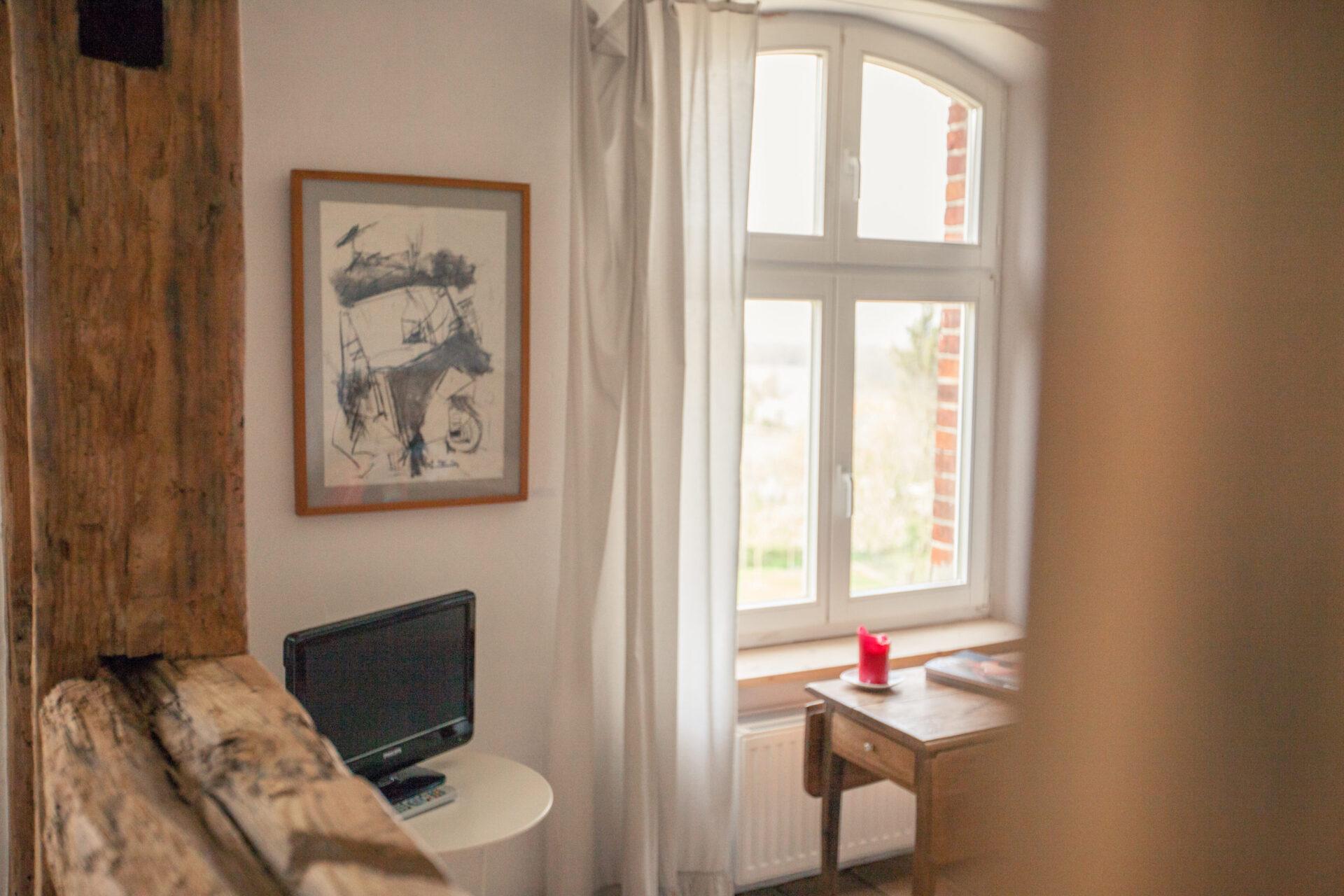 Wohnzimmer im Apartment Bertha